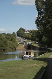 Flight of locks on the Kennet and Avon Canal UK Stock Images