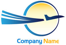 Flight logo Royalty Free Stock Photo