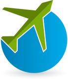 Flight logo. Illustration art of a flight logo with isolated background stock illustration