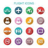 Flight long shadow icons Royalty Free Stock Images