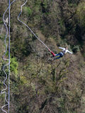The flight of a man on a rope, Sochi Stock Photos