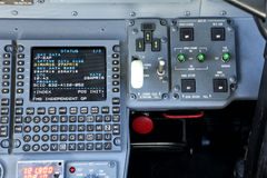 Flight management system control panel Royalty Free Stock Photos
