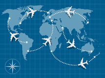 Flight map Stock Photography