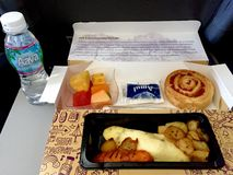 In flight meal Royalty Free Stock Photo