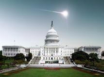 Flight of the meteorite in America. Royalty Free Stock Photo
