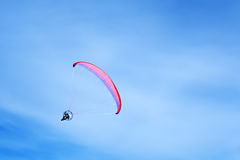 Flight moto paraglider Stock Image