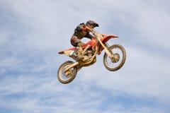 Flight on a motorcycle. Stock Photos