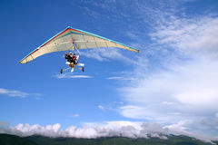 Flight Motorized hang glider Royalty Free Stock Images