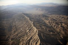 In flight mountains in Arizona Royalty Free Stock Photography