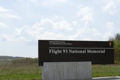Flight 93 National Memorial sign Stock Photos