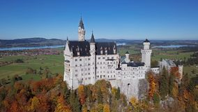 View of Neuschwanstein Castle, Bavaria, Germany. stock footage