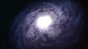 Flight near a rotating spiral galaxy. Abstract Loopable Background