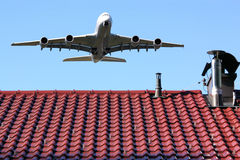 Flight noise royalty free stock images