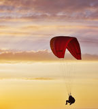 Flight on an operated parachute Royalty Free Stock Photos