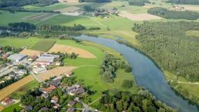 Flight over Bavaria Royalty Free Stock Photos
