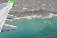 Flight over Cape town coast south Africa Stock Images