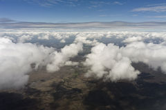 Flight over clouds Royalty Free Stock Images