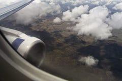 Flight over clouds Stock Photos