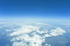 Flight over clouds Royalty Free Stock Photos