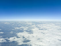 Flight over clouds Stock Photo