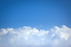 Flight over clouds Royalty Free Stock Photography