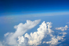 Flight over the clouds Royalty Free Stock Photo