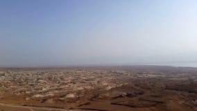 Flight over Dead Sea stock video footage