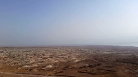 Flight over Dead Sea stock video