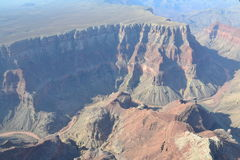 Flight over the Grand Canyon. The Grand Canyon is 277 miles long, up to 18 miles wide. This is very amazing scenery. Me must watching a long time. This canyon Royalty Free Stock Photo