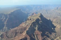 Flight over the Grand Canyon. The Grand Canyon is 277 miles long, up to 18 miles wide. This is very amazing scenery. Me must watching a long time. This canyon Royalty Free Stock Images
