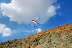 Flight over the hills Royalty Free Stock Photography