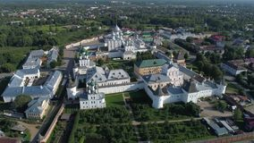Flight over the Kremlin, morning. Rostov the Great, Russia stock video