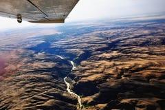 Flight over Kuiseb canyon, Namibia Royalty Free Stock Photography