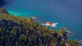 Flight over Lake Tahoe during the Summer Stock Photography