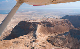 Flight over Masada Stock Photos