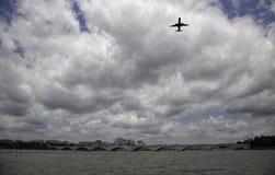 Flight Over the Potomac River Royalty Free Stock Photos