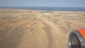 Flight over the shore of the Red Sea of Egypt. At sunny day stock footage