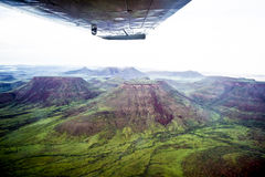 Flight over table mountains of Namibia Royalty Free Stock Photo