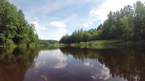 Flight over water stock video footage