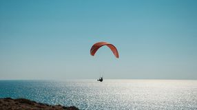 Flight on a paraglider Royalty Free Stock Photo