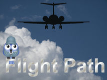 Flight path Royalty Free Stock Photo