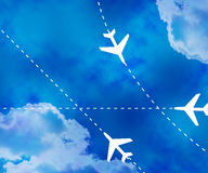 Flight Paths Sky Background Stock Images