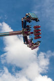 Flight of people upside down attraction Stock Photography