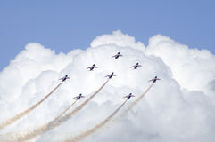 Flight Performance In Paris Air Show Royalty Free Stock Photo