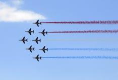 Flight performance in Paris air show Royalty Free Stock Photos