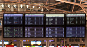 Flight plan display in an airport Royalty Free Stock Image