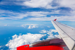 Flight by plane Royalty Free Stock Photos