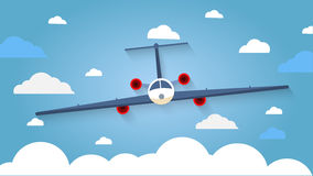 Flight of the plane in the sky. Passenger planes, airplane, airc Royalty Free Stock Image