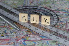 Flight Planning Royalty Free Stock Photos