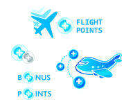 Flight points Royalty Free Stock Photo
